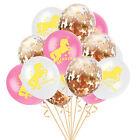 Licorne Doré Confettis Rempli Ballons Rose Mariage Anniversaire Poule Fête Décor