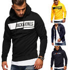 JACK & JONES Hoodie Kapuzenpullover Pullover Sweatshirt Schwarz/Grau/Gelb NEU
