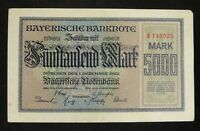 Germany Early Banknote 5000 Mark 1922