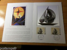 FRANCE 1987,  Document CERES 1° jour timbre 2494, TABLEAU PEVSNER, FDC PAINTING