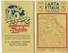TOURING CLUB ITALIANO  CARTA D'ITALIA  FOGLIO 5  -  SPEZIA - LIVORNO