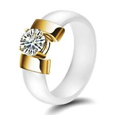 Fashion Jewelry Cubic Zirconia Stainless Steel Ring For Men Women Size 6-10 Gift