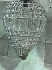 STUNNING FRENCH TEARDROP BASKET CHANDELIER ...ONE OF TWO SIMILAR AVAILABLE