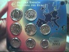 ufficiale 2002 SPAGNA 8 monete 3,88 euro espagne spanien España Spain Испания