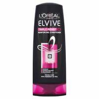 L'Oreal Elvive Triple Resist Conditioner 400ml pack of 3