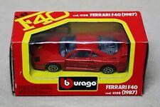 Burago Ferrari F40 (1987) - 1/43 Scale Diecast Metal Car #4108