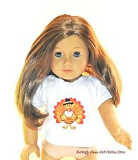 Thanksgiving Turkey Applique T -Shirt 18 in Doll Clothes Fits American Girl