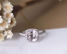 1.70 Ct Cushion Diamond Engagement Ring 18K White Gold Rings Size H I J K L