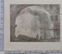 1910 Antico Originale Stampa Giovanni Battista Piranesi Ruined Arco
