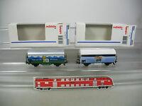 AK569-0,5# 2x Märklin H0/AC Güterwagen: 4485 Bärenmarke+4420 Teinacher NEUW+OVP