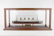 RMS Titanic Model Ship Desk Display Wood 1/500 White Star Ocean Liner ES + Coal