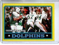 1986 TOPPS MIAMI DOLPHINS TEAM CARD / DAN MARINO (NM/MT)
