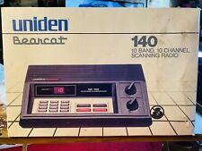 New in Box Uniden Bearcat Bc140 Desktop Base Scanner Radio Police Fire Ham 1985