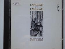 JEAN LANGLAIS <>  Aux Grandes Orgues Seinte-Clotilde Paris  <> VG++ (CD)
