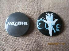 2 vintage The Cure  badges
