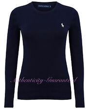 Ralph Lauren Women's Long Sleeve T-Shirt White Navy S-XL RRP £50