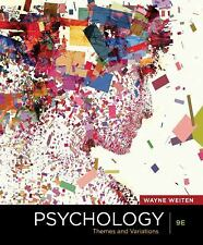 Psychology: Themes and Variations by Wayne Weiten and Weiten (2012, Hardcover)