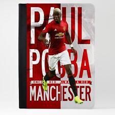 Valencia Manchester Rojo Cuero Funda Ipad Tableta Cubierta de la leyenda del fútbol LG62