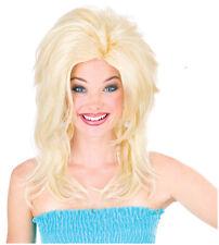Synthetic Role play Cosplay Reenactment or Crossdresser Peluca Costume Blond wig