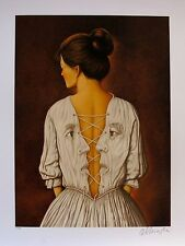 """RAFAL OLBINSKI """"SHE STOOPS TO FOLLY"""" Hand Signed Limited Edition Serigraph"""