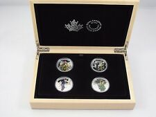 2016 Canada $15 Fine Silver National Heroes 4 Coin Set