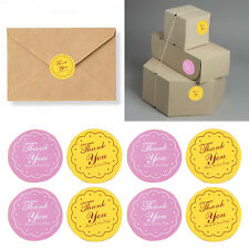 "120X/5Page Paper ""Thank You"" Sticker Double Color Circular New Sealing Pastes"