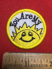 Fun Patch YOU ARE MY SUNSHINE Dazzle Your Jackets & Bags With Cheap Patches 76X2