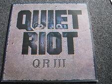Quiet Riot-QR III LP-MADE IN HOLLAND-Heavy Metal - 1986