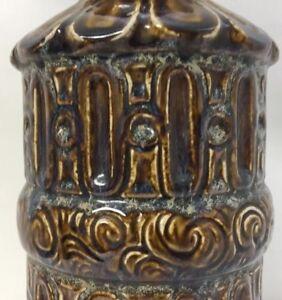 Vintage Mid Century Modern Ceramic Drip Brutalist Circa 1960s Raymor Lamp