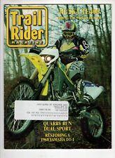 Trail Rider Motorcross Magazine Oct 2001 Husky Te400 1968 Yamaha Dt-1