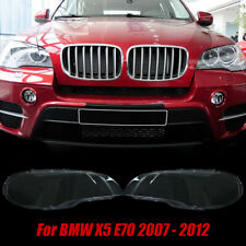 For BMW X5 E70 2007-12 Headlight Lens Lamp Cover Headlamp Shade Right+Left Pair
