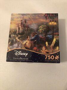 New Disney Thomas Kinkade Beauty and the Beast 750 Piece Jigsaw Puzzle