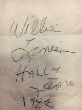 NFL autograph of Willie Lanier, Kansas City Chiefs Hall of Fame