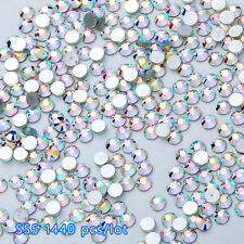 1440X Flat Back Nail Art Rhinestones Glitter Diamond Gems 3D Tips Decoration DIY