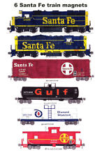 Santa Fe 1970s-era Freight Train 6 magnets by Andy Fletcher