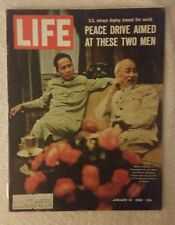 LIFE Magazine January 14, 1966; Peace Drive Aimed at These Two Men - RARE FIND!!
