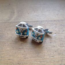 cufflinks Camper Van split screens vw Handmade Father's Day wedding day groom