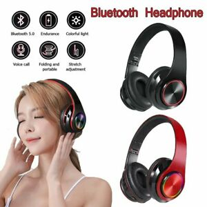 Wireless Bluetooth Kopfhörer 5.0 Headset Stereo Over Ear Faltbar mit Mikrofon