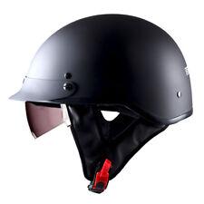 DOT 1STorm Motorcycle Half Face Helmet Mopeds Scooter Inner Visor Matt Black