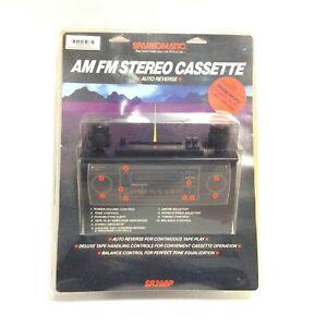 Sparkomatic AM FM Stero Cassette Auto Reverse SR39BP NOS