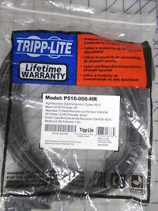 P516-006-HR High Res VGA Monitor Y Splitter Cable HD15 TRIPP LITE 6ft Black