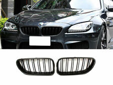 Double Rib Style M Look Carbon Fiber Front Kidney Grille For BMW F06 F12 F13