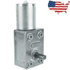 Dc 12v 10rpm High Torque Turbo Worm Electric Geared Motor Low Speed Reversible