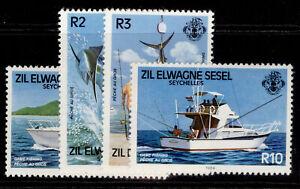 SEYCHELLES QEII SG83-83, 1984 game fishing set, NH MINT. Zil Elwannyen Sesel