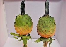 Designer Accents Pineapple Decorative Yard Garden Stakes Lot of 10 Luau Party