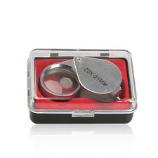 New 20X 21MM Jewelry Tools Loupe times Magnifying metal folding Glass Magnifi PL