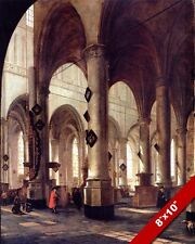 INTERIOR ST PETERS PIETERSKERK LEIDEN CHURCH HOLLAND PAINTING ART CANVAS PRINT