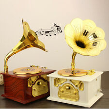 Phonograph Box Music Box Christmas Birthday Holiday Best Gift Home Decorate Us