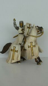 Schleich mounted Teutonic knight attacking with sword