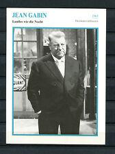 Starkarte Jean Gabin-Silencieux comme la nuit 1963 (st6)